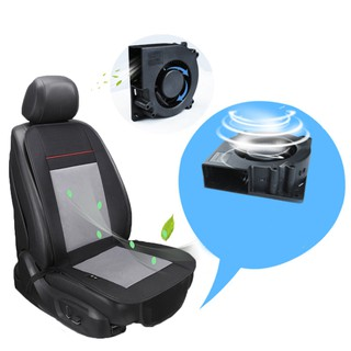 Cooling Car Seat Cushion - Black 12V/24V Automotive Adjustable Temperature Comfortable Cooling Car Seat Cushion