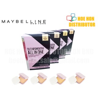 Maybelline Clearsmooth All in One Oil Control + Lightweight Two Way Cake SPF32/PA+++ 9g Refill (Pixy Alternative)