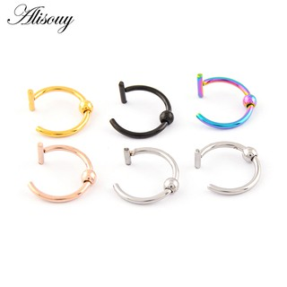 1 Pc Stainless Steel Fake Lip Ear Nose Cartilage Septum Ring Body Jewelry