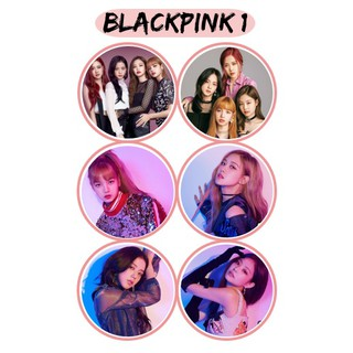 6PCS BLACKPINK BUTTON BADGES