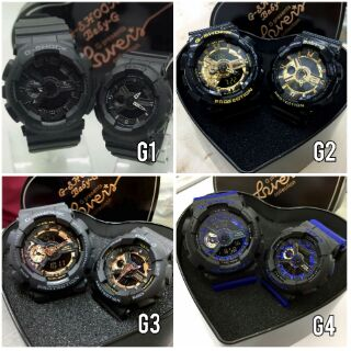 [HOT ITEM] CASIO G SHOCK GA-110 COUPLE SET + FREE GSHOCK COUPLE BOX