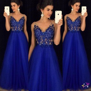 NL.-Women Formal Wedding Bridesmaid Long Evening Party Ball Prom Gown Cocktail