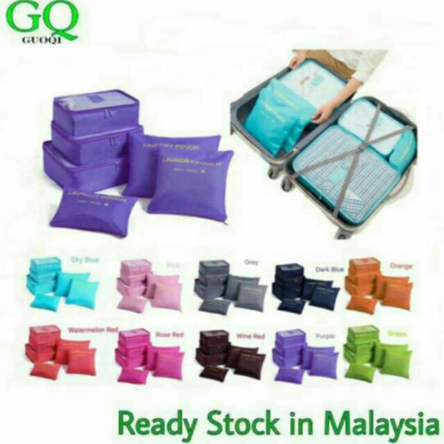 WholeSale6 in 1 Clothes Storage Bags Packing Cube Travel