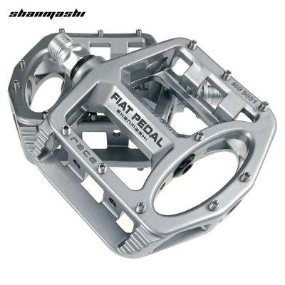 shanmashi MG 5051 2PCS Flat Bicycle Pedals Magnesium Alloy (SILVER)