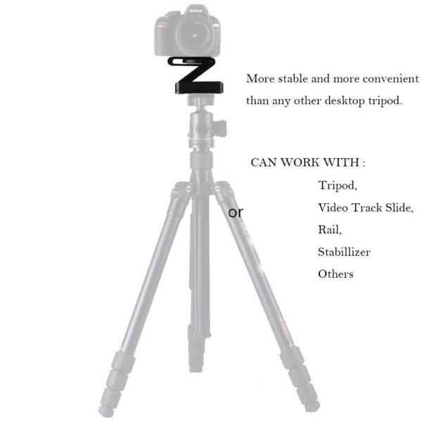 Portable Foldable Z Flex Tilt Camera Tripod Bracket Head for Photography Studio Stand Mount Holder