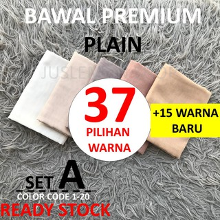 READY STOCK BAWAL PREMIUM COTTON PLAIN  I SET A I 37 PILIHAN WARNA
