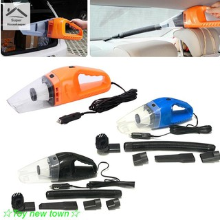 【Spot】Car Vacuum 12V 120W Auto Vacuum Cleaner 6in1 Handheld Vacuums with 5m Power Cord