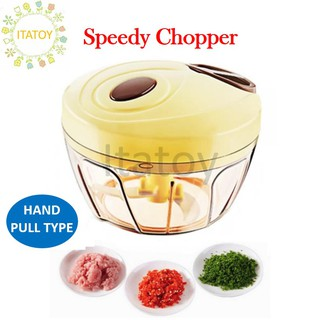 1pc Easy Manual Hand Pull Speedy Chopper Blender Mixer Mini Sharp Blade for Garlic, Vegs etc