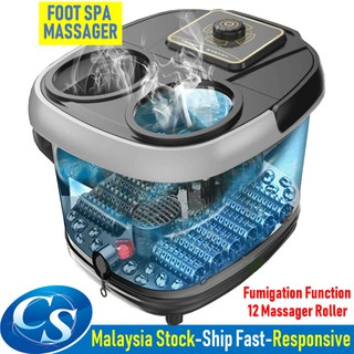 12x Rollers Affordable Foot Spa Massager Healthy Reflexology Foot Relax Massage DT-888 Fumigation Urut Panas Tungku Kaki