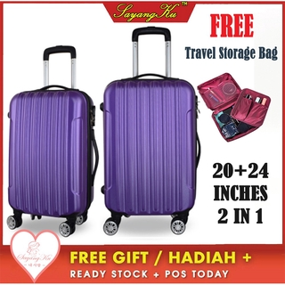[M'sia] Ready Stock Premium High Quality Luggage Bag  Hard Suitcase 20