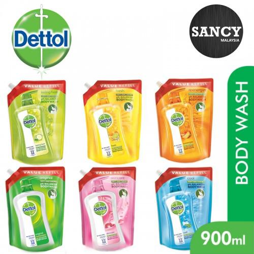 Sancy DETTOL Antibacterial pH-Balanced Body Wash Refill Pouch 900ml