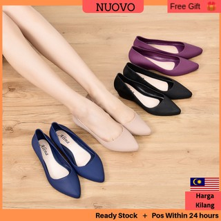 Alina 🇲🇾Woman Jelly Wedges Shoe High Heel BUY 3 FREE POS Ready Stock Super Comfort wedges Shoe