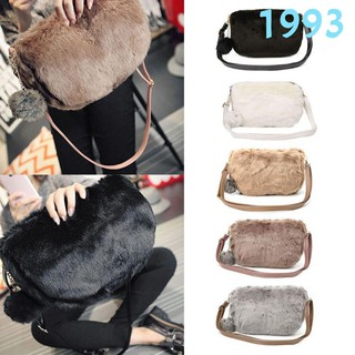 1993 Women Faux Fur Shoulder Bag Handbag Crossbody Tote Hobo Bags Purse