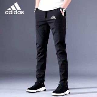 read stock adidas hot Men's Casual Pants Chinos Elastic Cotton Seluar Long Trousers Khaki Black size 28-38