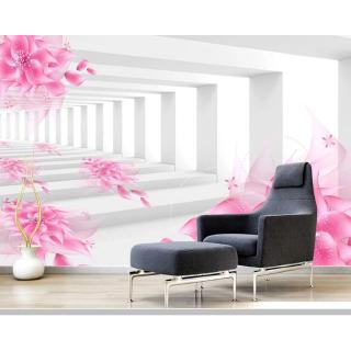 3d fantasy flower space extension wallpaper mural,living room tv wall bedroom kitchen wall papers home decor