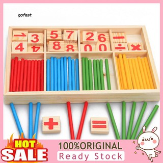 FAST-Pre-School Wooden Mathematical Intelligence Stick Early Learning Counting Toy