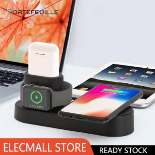 4 in 1 Qi Wireless Charger Fast Charging Dock for Apple Watch AirPods iPhone XS Max XR Samsung S9