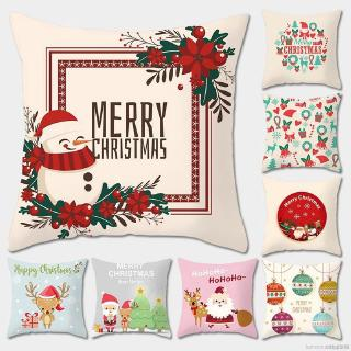 Peach Velvet Christmas Decorative Pillowcase Zipper Closure Throw Pillow Cover