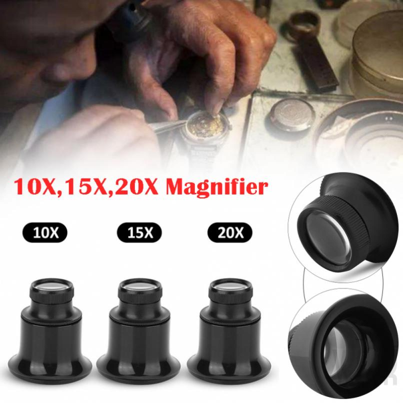 Magnifier watch repair craft operation multi-magnification 10x15x20x transparency good
