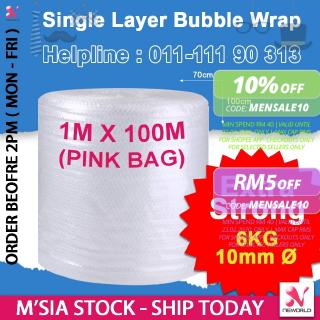 《 SELF COLLECT IPOH ONLY 》10mm Ø - Extra Strong Single Layer Bubble Wrap 1 Meter x 100 Meter Packing Fragile Protection