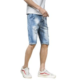 short pants jeans outdoor fashion trend loose simple teens youth bajumurah summer sport trend five man in stock