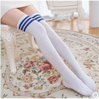 Football socks high socks good quality color children's socks over the knee cotton men and women students dance sock450