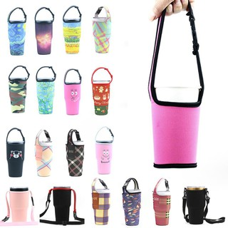 New silicone Outdoor Travel Water Bottle Sports Bag Ice Cup Set Sleeve Bottle