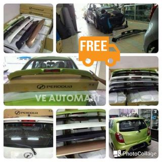 Spoiler axia (100%perodua original parts)