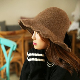 discount wool hat female autumn and winter new dome fisherman hat