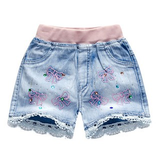 ◊Online shopping hot style girl han edition girls denim shorts pants 2019 a undertakes to sell like cakes