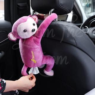 Car Leather Monkey Hanging Paper Towel Box Car Pumping Paper Paper Towel Car Pump Cute Car