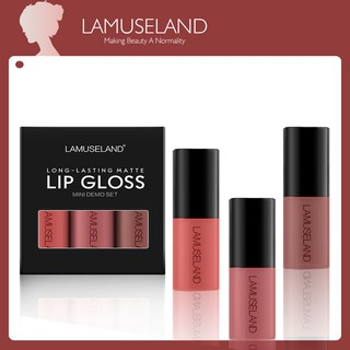 LAMUSELAND 3Pcs/Set Waterproof Liquid Lipstick Mini Lasting Lip Gloss #L18L13
