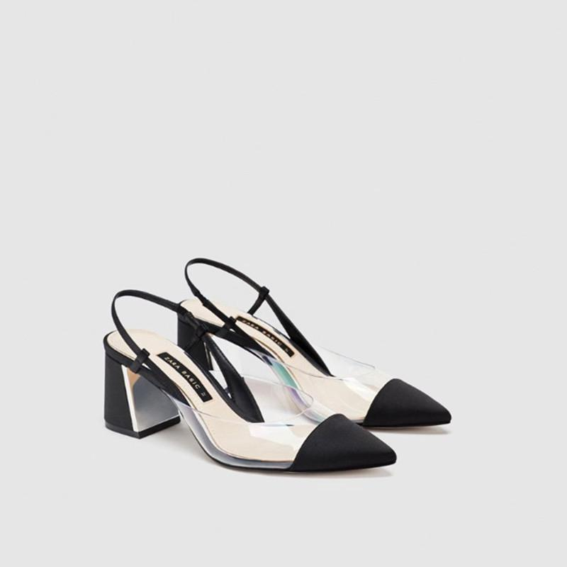 zara spring and summer models rough with a single shoes women's shoes
