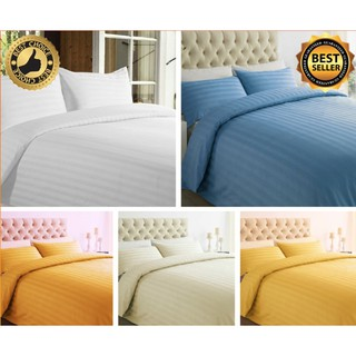 GH: 100% Cotton Sateen Fitted Sheet Set: 2cm Stripe - various colors