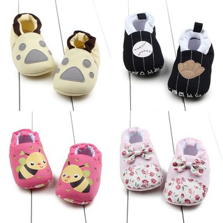 Baby boys girls Cotton Cartoon Kids Anti-slip First Walkers Crib Shoes