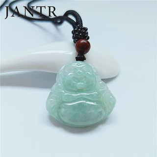 ready stock New product video prevails fake one loss ten natural jade laughing Buddha pendant A goods female transfer t
