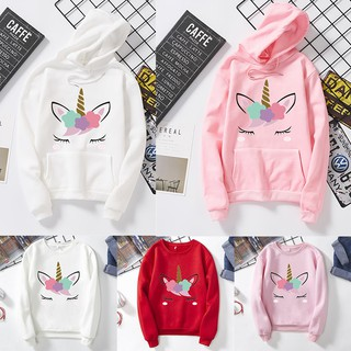 Flash Sale !📣Korean women unicorn sweatshirt oversized Long sleeve loose hoodie
