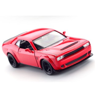 1:36 Simulation Retro Running Lane Odd Challenger Car Model Can Return To Children's Toys Color Box