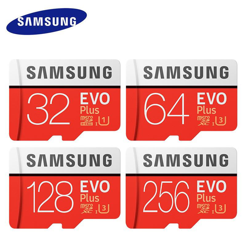 Original Samsung EVO Plus U3 256GB 128GB 64GB 32GB CL10 Micro SD Memory Card