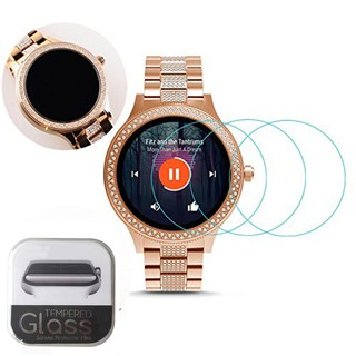 [2 PACK] Clear Tempered Glass Screen Protector for Watch Fossil Q Venture3 / mar