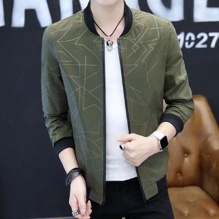 Men's jacket long sleeves Pattern casual slim sports thin solid color M-4XL bajumurah in stock multiple styles