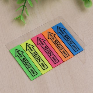 Self Adhesive Sticky Notes Planner Index Stickers Memo Pad School Supplies