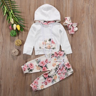 Newborn Baby Girls Sport Outfits Clothes Spring Sweat Shirt Hoodies+Pants Set AU