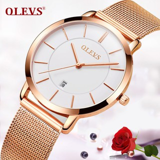 Women Rose Gold Bracelet Watch Ultra Thin Ladies Stainless Steel Simple Watches
