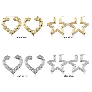 Exaggerate Five-pointed Star, Heart Pendant Women Earrings Clothing Accessories