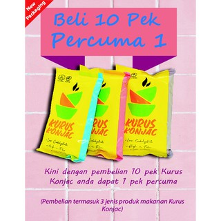 KURUS Konjac Food Buy 10 packs FREE 1 Pek total 11 pek
