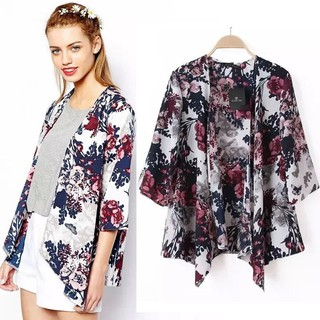 New Retro Boho Floral Hippie Summer Cardigan Kimono Flowered Comeandbuy