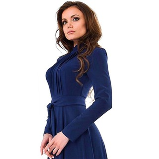Fashion Long Maxi Party Evening Ball Gown Long Sleeve Dress