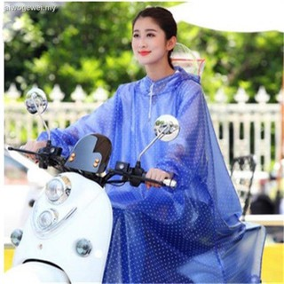 ◊▥◇Single zone with a sleeve raincoat electric vehicle battery car increased thickening motorcycle transparent poncho