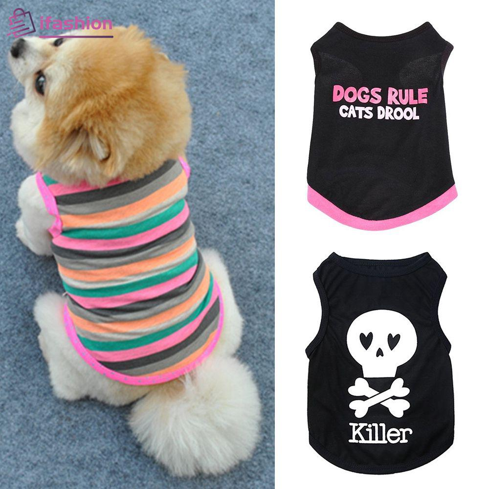 Fashion Cute Vest Shirt For Puppy Kitty Small Dog Cat Colorful FSHN